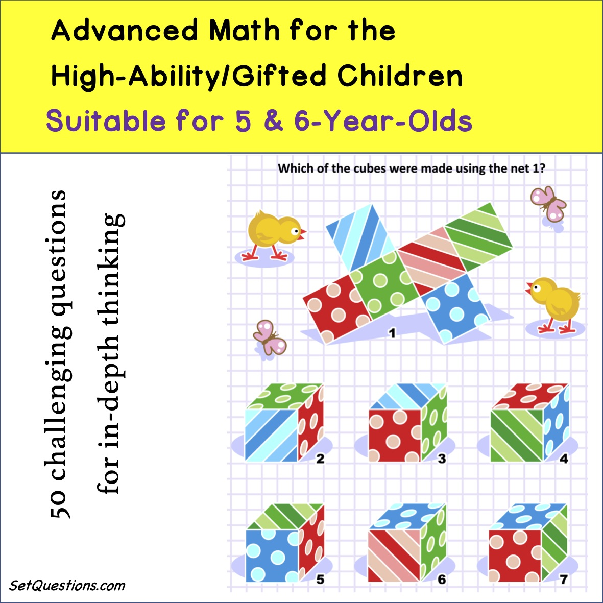 Advanced Math for Gifted 5-6-Year-Olds | SetQuestions.com